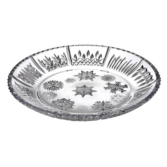 Snowflake Wishes Platter 34cm w/10 Different Snowflakes