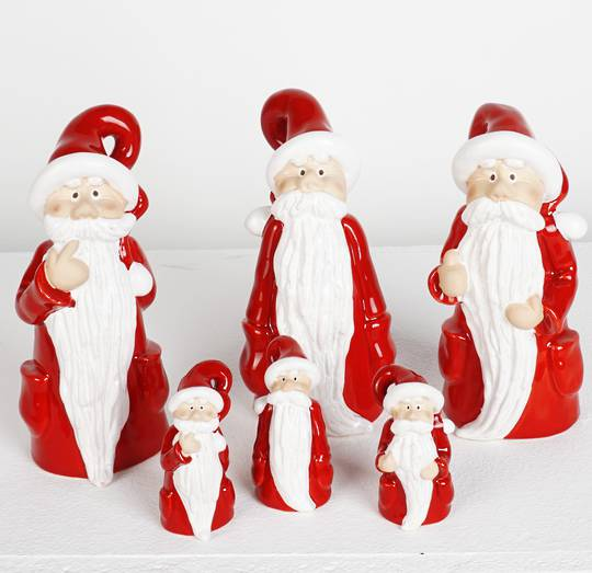 Ceramic Santa with Long Beard