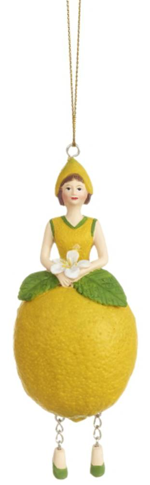 Hanging Flower Girl Lemon Yellow 12cm