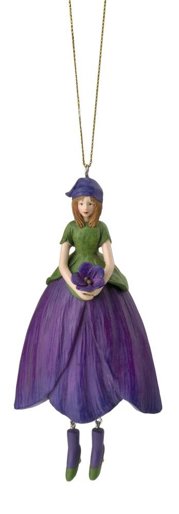 Hanging Flower Girl Violet Lilac 12cm