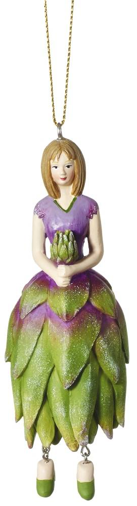 Hanging Flower Girl Protea Green/Lilac 12cm