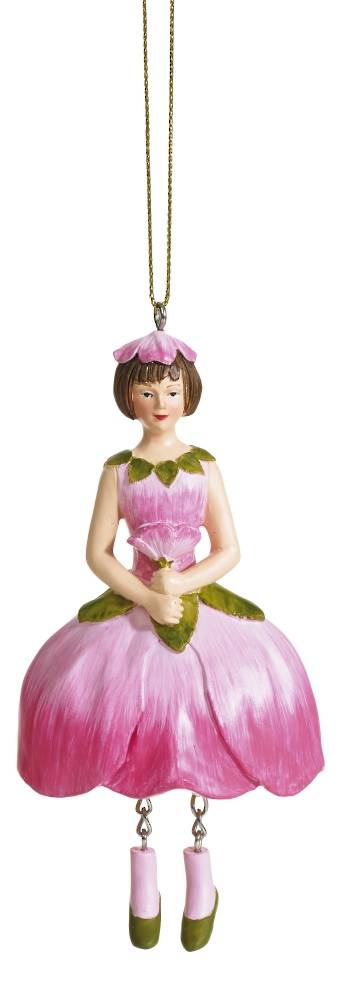 Hanging Flower Girl Apple Blossom Rose/Pink 12cm
