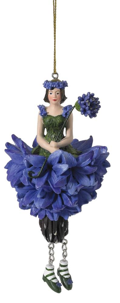 Hanging Flower Girl Cornflower Blue 12cm
