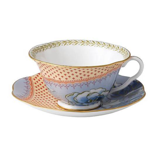Bloom Low Blue Cup & Saucer