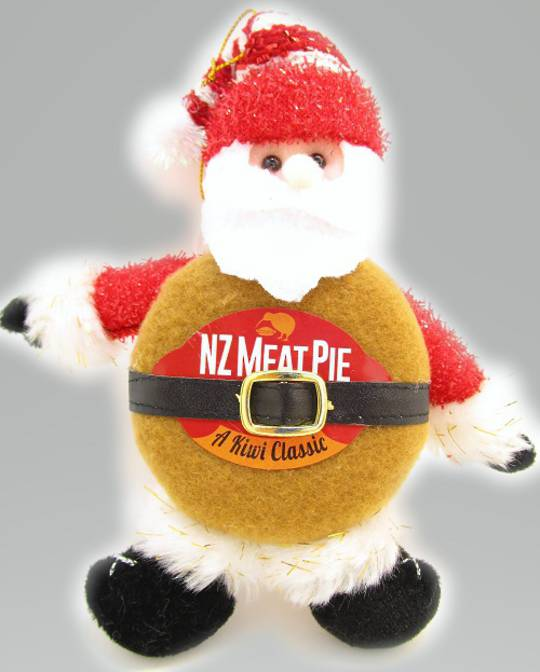 Iconic Hanging Fabric MeatPie Santa