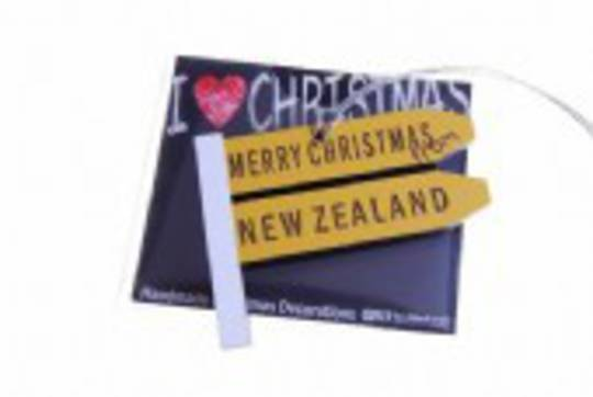 Hanging I Love Christmas, Give me a Sign, New Zealand