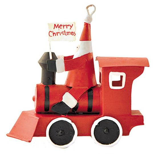 Tin Santa on Red Train
