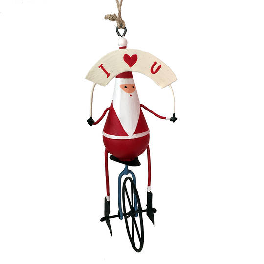 Santa on Unicycle SOLD OUT