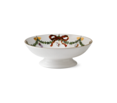 StarFluted Christmas Small Footed Dish