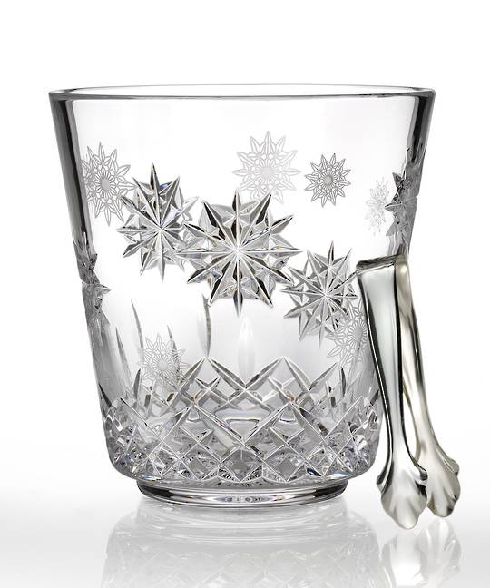 Snowflake Wishes Ice Bucket w/Tongs
