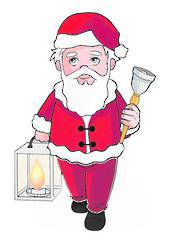 LED Flame Xmas Grandpa Window Sticker