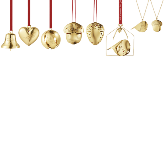 Georg Jensen Annual Christmas Ornaments 2018, Complete Set 8