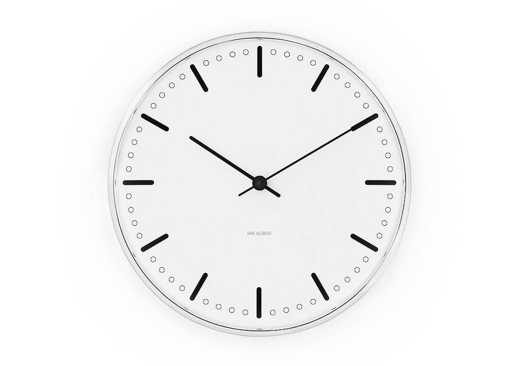 Arne jacobsen city hall clock 16cm designer homeware galtons of