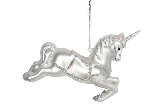 Hanging Glass Unicorn