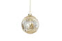 Hanging Glass Ball, Gold Leopard