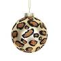 Glass Ball, Gold with Leopard Spots 8cm
