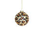 Glass Ball, Gold with Leopard Spots