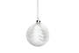 Hanging Glass Ball, Clear with White Tree & Snow Inside
