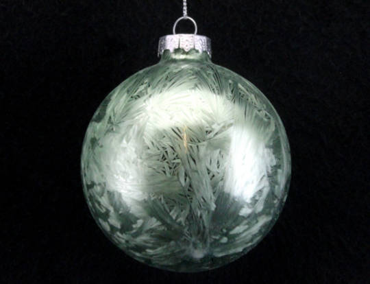 Glass Ball Pale Green Damask 8cm