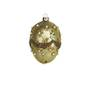 Glass Hanging Faberge Gold Egg w/Gold 10cm