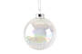 GlassBall Soap Bubble w Irid Snow 7cm