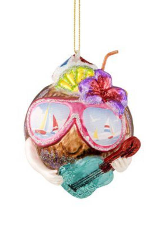 Glass Hanging Cool Coconut 10cm