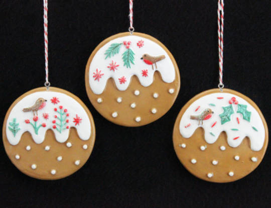 Resin Hanging Nordic Gingerbread Puddings
