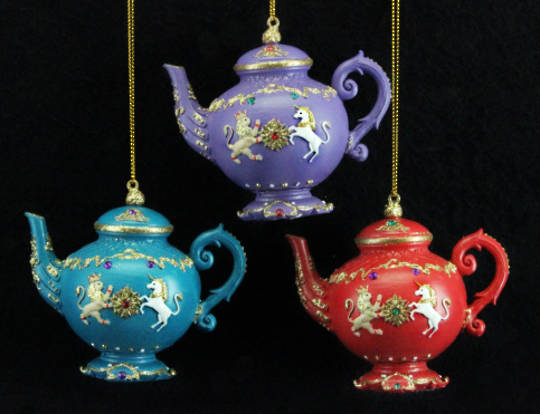 Hanging Resin 3D Regal TeaPot