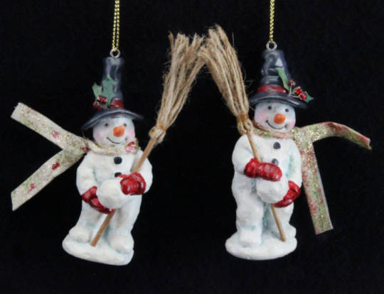 Hanging Resin Fabric Toy Factory Snowman