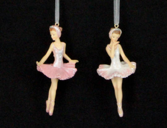Hanging Resin Ballerina Pink-White