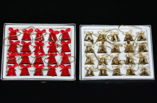 Mini Metal Bell Chain Red or Gold 1.6 mtr