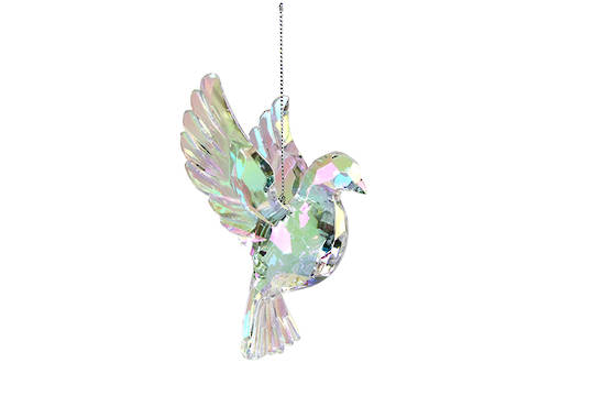 Hanging Rainbow Iridescent Flying Dove SOLD OUT