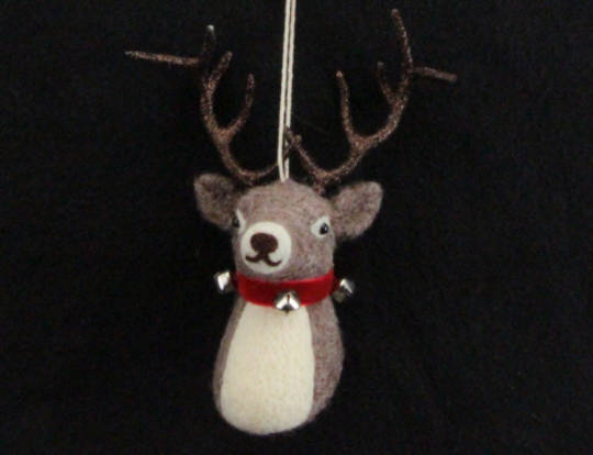 Hanging Eco Wool Stag Head