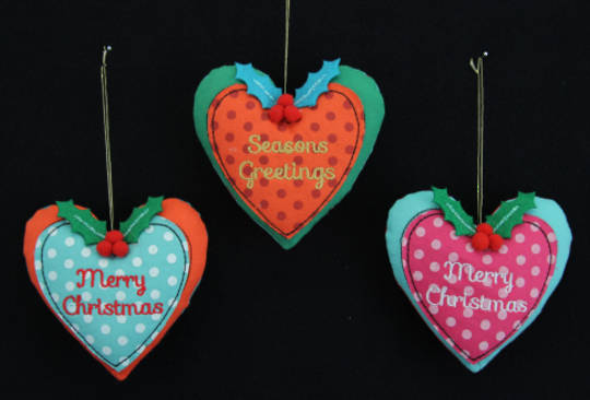 Party Fabric Heart 8cm
