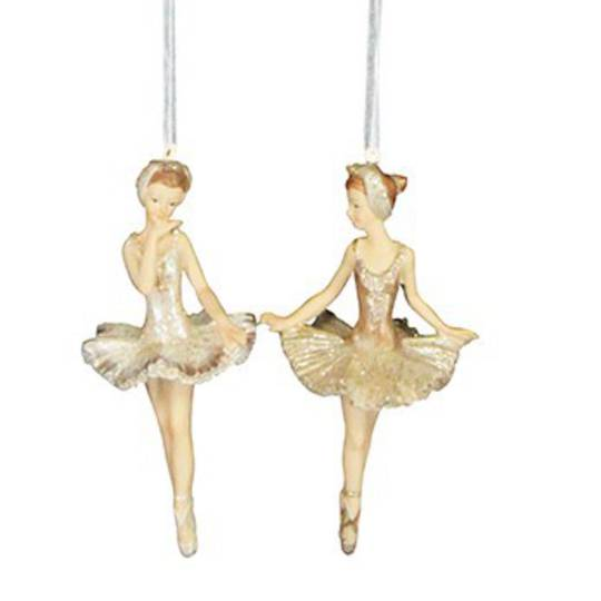Hanging Gold Resin Ballerina 11cm