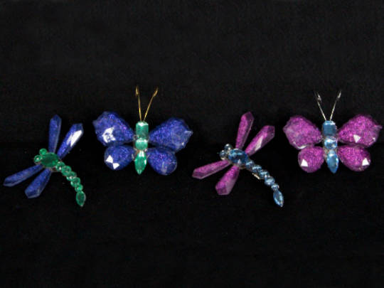 Blue/Green & Pink/Aqua Insect on Clip