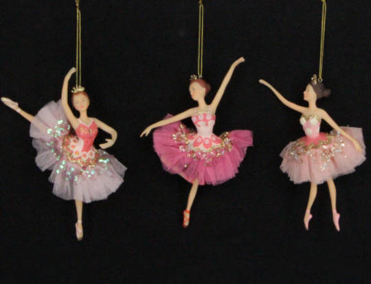 Hanging Resin Ballerina Pink Fabric