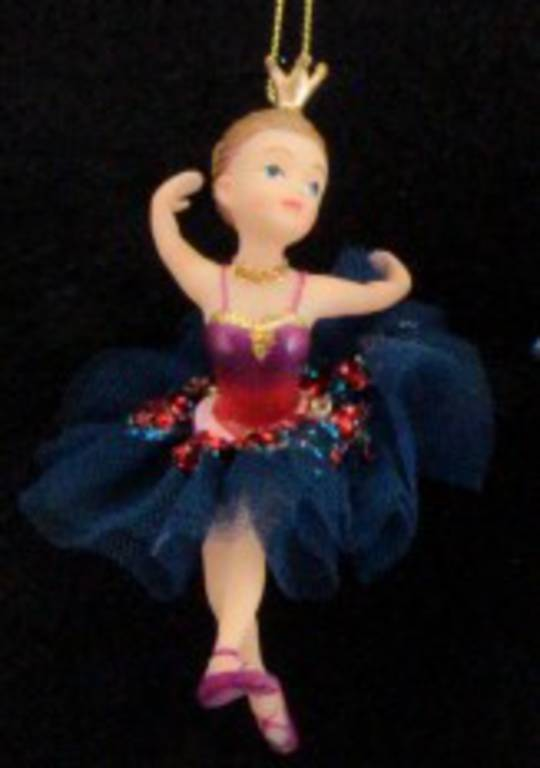 Hanging Resin & Fabric Ballerina Girl