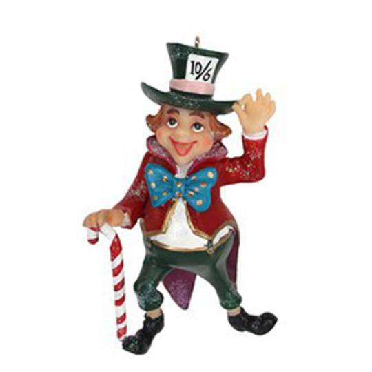 Hanging Resin 'Mad Hatter' 9cm