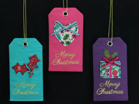 Hanging Christmas Fabric Gift Tag