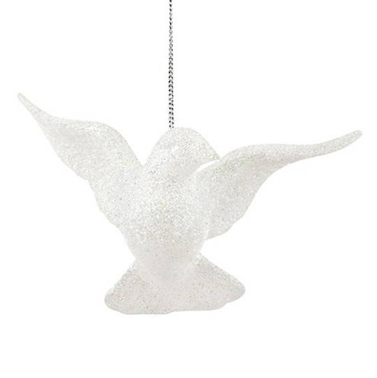 Hanging Iridescent Glitter Flying Dove