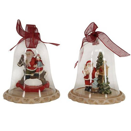 Glass Dome with Santa Scene Inside