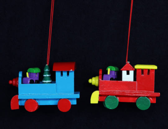 Wood Christmas Train 8cm