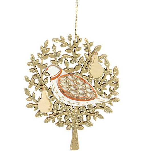Fretwork Wood Partridge in Pear Tree SOLD OUT