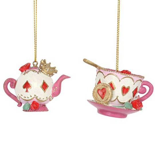 Resin Queen of Hearts Teapot or Cup & Saucer