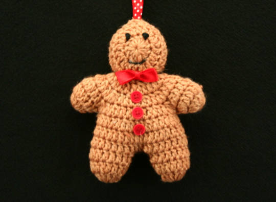 Hanging Knitted GingerBread Man 12cm