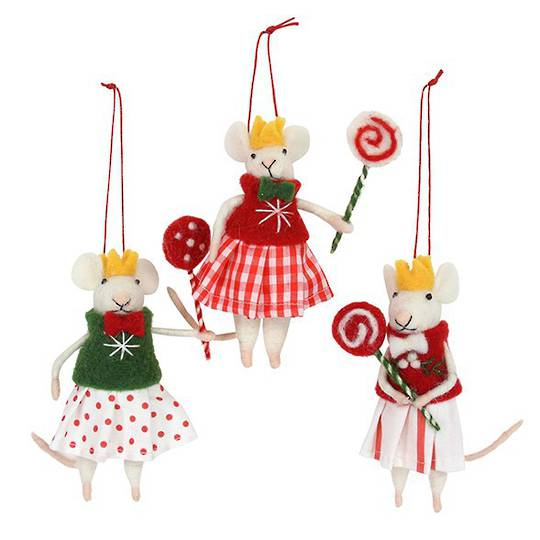 Eco Wool Mouse Girl with LollyPop