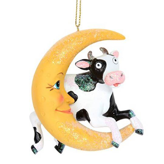 Resin Cow Jumps Over the Moon SOLD OUT