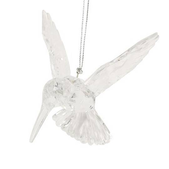 Hanging Clear Acrylic Humming Bird 10cm