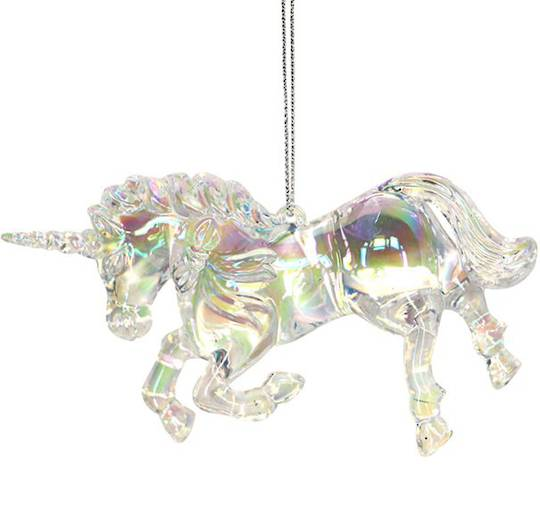 Acrylic Iridescent Rainbow Unicorn